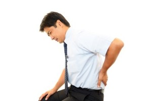 15949767 - the businessman who is troubled with low back pain