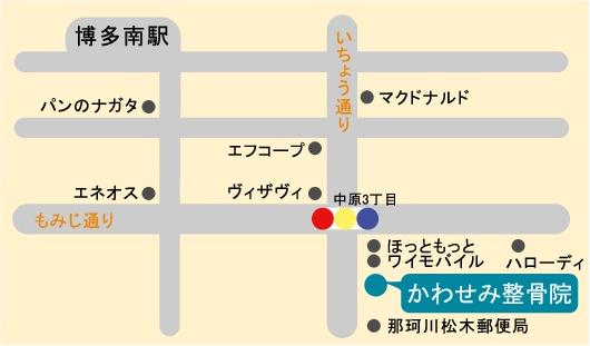 かわせみ整骨院・かわせみ鍼灸院は  新幹線博多南線、博多南駅より徒歩7分の地図