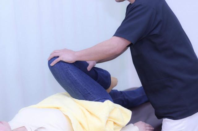 治療説明の写真